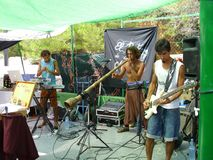 Hippiemarkt in Ibiza royalty-vrije stock afbeelding