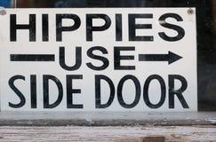 Hippien benutzen Seitent?r lizenzfreies stockfoto