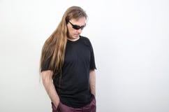 Hippies avec de longs cheveux Photos libres de droits