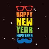 Hippies de bonne année Images libres de droits