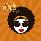 Hippies design. Over grunge background vector illustration Royalty Free Stock Images