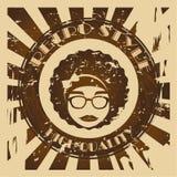 Hippies design. Over grunge background vector illustration Stock Photos