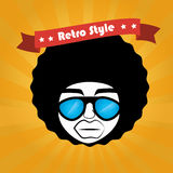 Hippies design. Over orange background vector illustration Royalty Free Stock Images