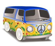 Hippieskåpbil Arkivfoton