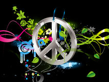 Hippiesymbol Lizenzfreies Stockbild
