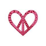 Hippieweinlese-Friedenssymbol in zentangle Art Lizenzfreie Stockfotos