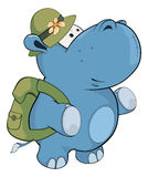 hippo λίγα cartoon ελεύθερη απεικόνιση δικαιώματος
