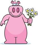 hippo λουλουδιών Στοκ Φωτογραφίες