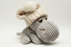 Hippo σε ένα καπέλο Στοκ φωτογραφία με δικαίωμα ελεύθερης χρήσης