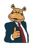 Hippo σε ένα κοστούμι  Στοκ Φωτογραφίες