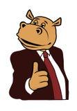 Hippo σε ένα κοστούμι 6 Στοκ Εικόνα