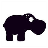 Hippo. A hipo with a black silhouette Royalty Free Stock Photos