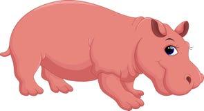 Κινούμενα σχέδια Hippo Στοκ Φωτογραφία