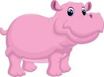 Κινούμενα σχέδια Hippo Στοκ Εικόνες