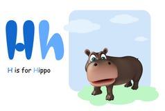 Hippo with alphabet Royalty Free Stock Photos
