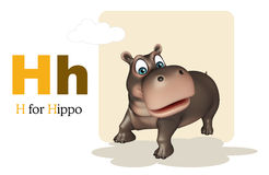 Hippo with alphabet Stock Photography