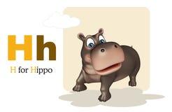 Hippo with alphabet Stock Photography
