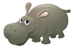 Hippo Animal Cartoon Character. A cute hippo hippopotamus animal cartoon character mascot Stock Photo