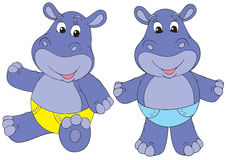 Hippo babies Royalty Free Stock Photos