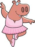 Hippo Ballerina. A cartoon hippo in a tutu dancing Stock Photos