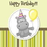 Hippo with balloon Royalty Free Stock Photo