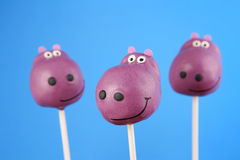 Hippo cake pops Royalty Free Stock Photography