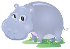 Hippo cartoon Royalty Free Stock Photo