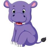 Hippo cartoon. Illustration of  cute hippo cartoon Stock Photo