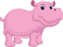 Hippo cartoon. Illustration of Hippo cartoon with white background Stock Images