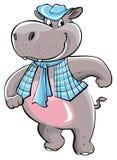 Hippo Cartoon Royalty Free Stock Photos