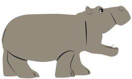 Hippo cartoon Stock Photo