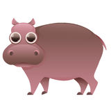 Hippo cute cartoon character Stock Photo