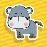 Hippo design Stock Image