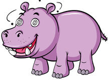 Hippo with dizzy face Stock Photo
