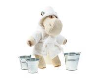 Hippo doll  with buckets Stock Photos