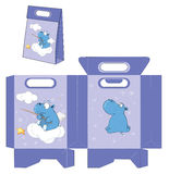 Hippo. Handbags packages pattern Royalty Free Stock Photography