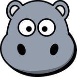 Hippo, Head, Cartoon, Cute, Grey Royalty Free Stock Photo