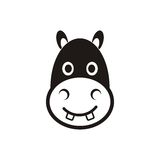Hippo head icon Royalty Free Stock Photography