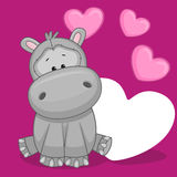 Hippo with hearts Royalty Free Stock Photo