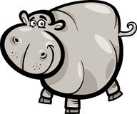 Hippo or Hippopotamus Cartoon Character Stock Photo