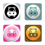 Hippo Icon Stock Images