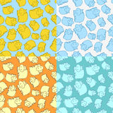 Hippo Pattern Royalty Free Stock Photo