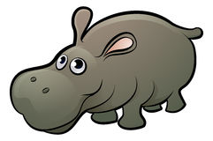 Hippo Safari Animals Cartoon Character. A hippopotamus safari animals cartoon character Stock Photos