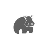 Hippo silhouette vector. A silhouette of a hippopotamus on a white background, vector illustration Royalty Free Stock Photography