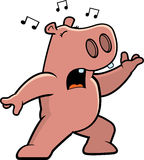 Hippo Singing Royalty Free Stock Image