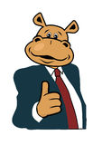Hippo in a suit. And tie Stock Photos