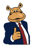 Hippo in a suit 4. Hippo in a suit and tie Stock Photography