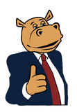 Hippo in a suit 5. Hippo in a suit and tie Royalty Free Stock Photos