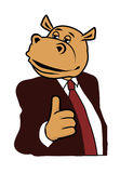 Hippo in a suit 6. Hippo in a suit and tie Stock Image