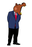 Hippo in a suit 7. Hippo in a suit and tie Stock Images